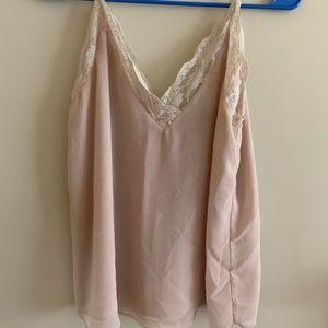 Zara blush lace cami